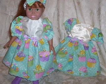 """A G 18 inch DOLL """"Dress with Matching Headband"""" ... Three prints to choose from"""