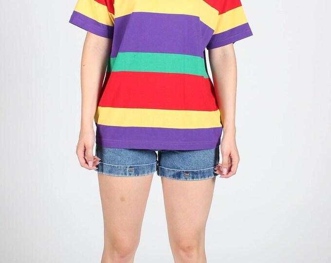 Rainbow Stripe T Shirt