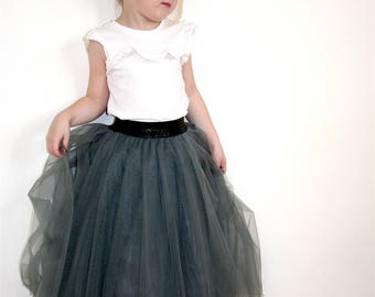 flower girl skirt, baby maxy tulle skirt, girl maxi skirt, Full length skirt, floor length tutu skirt, todler skirt maxi 1st birthday outfit