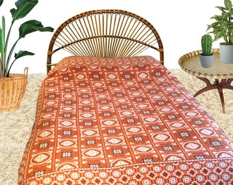 boho 70s reversible bedspread bohemian hippie gypsy bedding bed cover fabulous retro 1970u0027s pattern jacquard long
