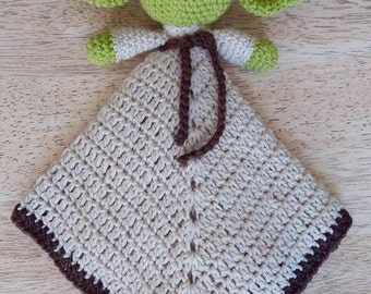 Yoda crochet comforter, yoda lovey, Star Wars comforter/lovey, snuggleblanket