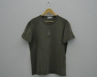 Calvin Klein Shirt Vintage Calvin Klein T Calvin Klein Relaxed T Made in Canada Mens Size S