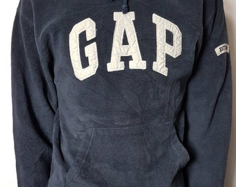 Vintage 90's Gap Hoodie Sweater / The Gap Royal Blue Long Sleeve Hooded Sweat Shirt 1990s Retro Throwback Hip Hop FREE SHIPPING