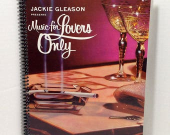 Jackie Gleason Music For Lovers Only Album Cover Notebook Handmade Spiral Journal