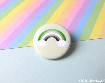 Aromantic Rainbow Pride Button