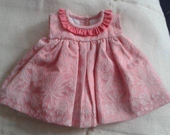 Gorgeous Cua-Cuak brocade vintage style Spanish tiny baby dress newborn girl