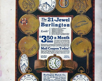 burlington 21 jewel watch advertisment download