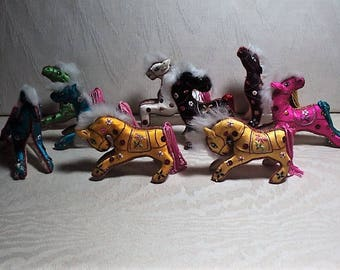 CHRISTMAS, HORSES, HOLIDAY, Holiday Decor, Christmas Decoration, Christmas Tree Ornaments, 9 Horses, Multicolor Horses