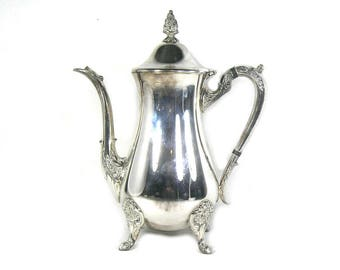 Vintage Viners Silver Plated Coffee Pot, Viners Coffee Pot, Silver Plated Pot, Viners Teapot, Plated Teapot, Silver Christmas Table Top