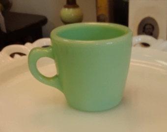 Vintage Fire King Jadeite C-Handle Coffee Mug--Restaurant Style!