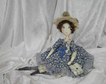 Artist doll, heirloom doll, Handmade Doll, Rag Doll, Textile Doll, Art Doll - rag doll, Ooak doll art is handmade, DENISE