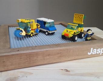 Wood Lego Tray. Personalized Lego Tray. Lego Baseplate. Lego Gift.