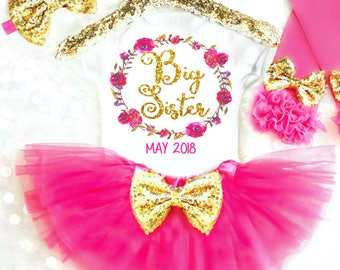 BIG SISTER Shirt, Big Sister Gift, Big Sister Outfit, Promoted to Big Sister Announcement I'm Going to be a Big Sister Little Sister Big Sis