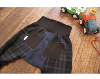 baby harem panel pants (made to order). wool/ hemp