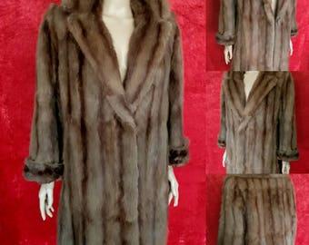 SALE 1940s Mink Coat, Vintage Pastel Mink Fur Coat, 1940s Fur Stroller, Real Pastel Mink Fur Coat, Vintage Fur Coat, 1940s Fur Coat