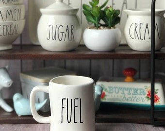 DECAL ONLY!Rae Dunn Inspired Fuel Vinyl Decal~Rae Dunn Decal~Rae Dunn Mug Decal~Kitchen Decor~Farmhouse Decor~Country Decor~