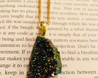 Titanium Quartz Crystal Necklace