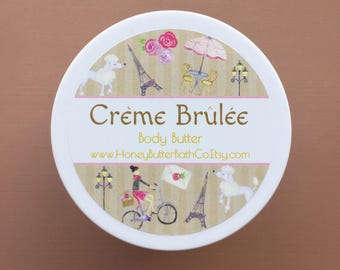 Creme Brulee Body Butter | Caramel | French | Dessert | Birthday | Lotion | Sweet | Unique | Gift for Her | Cream | Bath | Beauty | Mom |