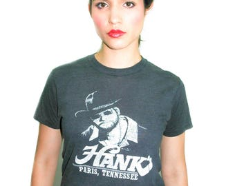 Vintage Hank Williams JR Shirt 1980s Country Music Super Black Tee 80s Tee 80s shirt Band Tee Concert shirt Punk Tee Rebel Music Redneck M