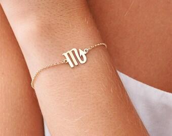Zodiac Jewelry, Dainty Zodiac Bracelets, Astrology Zodiac Bracelet, Leo, Libra, Virgo, Scorpio, Sagittarius, Capricorn Bracelet