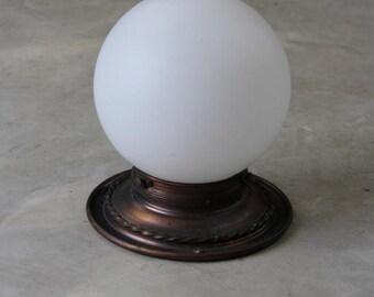 Deco White Globe Ceiling Light