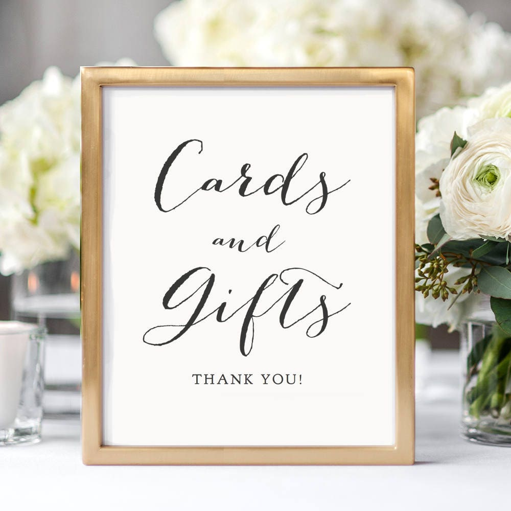 Cards And Gifts Sign Printable Wedding