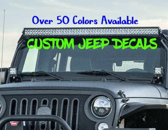 Custom Jeep Wrangler Decals Body Decals Car Truck Window - Custom windo decals for jeeps