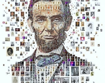 Abraham Lincoln Portrait Printing On Canvas, Wall Art, Photo Canvas, Room Deco, Famous Person, Wonder, The Leader, The President of Usa