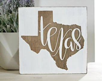 Texas sign, Texas decor, wood state sign, Texas gift, Texas wall art, Texas print, wood home sign, housewarming gift, gallery wall
