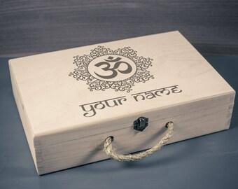 Yoga Keepsake Box, Namaste Keepsake Box, Om Memory Box