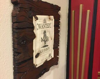 Jack Sparrow Wanted Poster on Faux wood - Pirates of the Caribbean