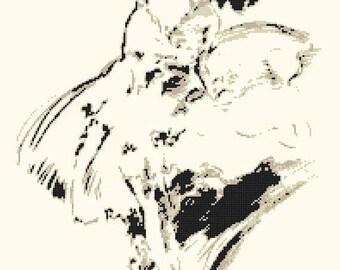 ballerina Cross Stitch Pattern Pdf point de croix, embroidery, needlework - 177 x 248 stitches - INSTANT Download - B1423