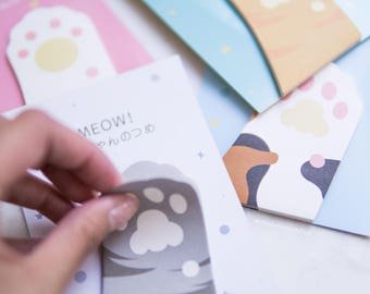 Cat Paws Sticky Notes - Memo/Post-It/Tabs