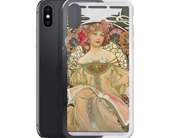 Reverie French Ad iPhone Case, iPhone 6 Plus/6s Plus, iPhone 6/6s, iPhone 7 Plus/8 Plus, iPhone 7/8, iPhone X