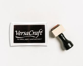 Versacraft Ink Pad, Fabric Ink Pad, Fabric Stamp Pad, Waterproof Ink Pad, Black Washable Ink Pad, Versacraft Stamp Pad, Wood Ink Pad (Black)