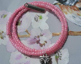 Thank you teacher present, memory wire bracelet, charm bracelet, owls, gift idea