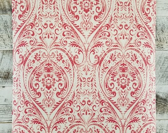 A Street Prints Gypsy Red Damask Wallpaper SZ001865