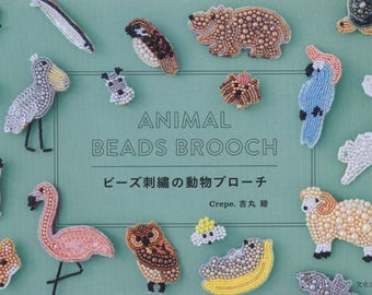 Animal Beads Brooch - Japanese Bead eBook - Japanese Craft eBook - Instant Download Pdf - Pdf file