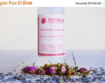 SALES 15% OFF Intimate Area Cleanser, Organic Liquid Soap, Daily Intimate Wash, Vaginal Hygiene, Chamomile, Antibacterial Action by Herbana