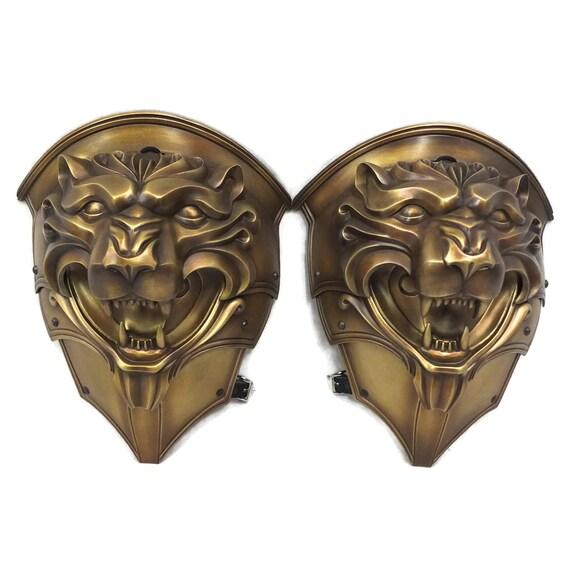Larp Armor, Fantasy Lion Head pauldrons. Cosplay armor, Skyrim, Witcher, Game of Thrones