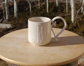 Pottery Barn Initial J Mug