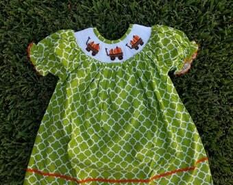 Fall smocked dress