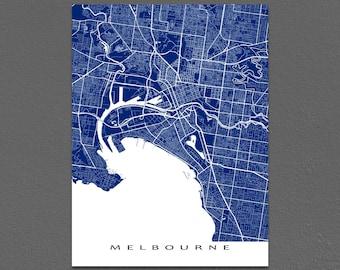 Melbourne Map Print, Melbourne Art, Melbourne Australia, City Map Art