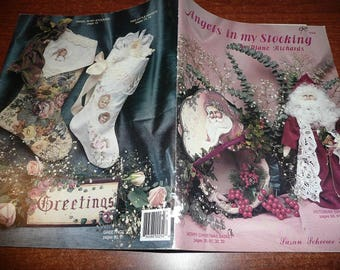 Vintage Angels In My Stocking Painting Book
