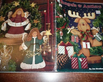 Vintage Angels & Antlers Painting Book