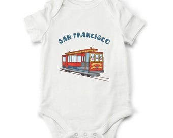 10% OFF SALE San Francisco baby bodysuit, Cute baby clothes, Baby gift, Travel bodysuit