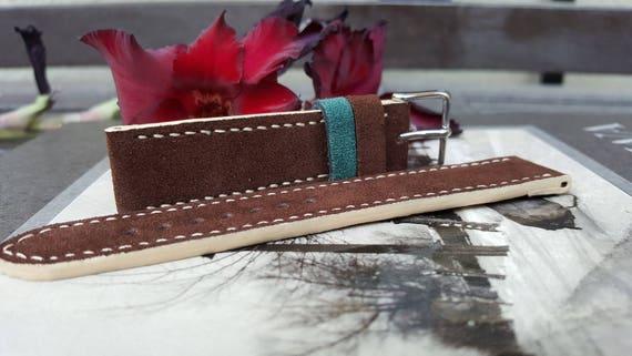 Italian Suede Watch Strap - Handmade 04