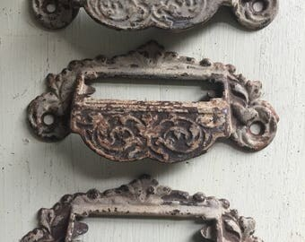 Architectural Salvage Drawer Pulls Antique Cast Iron Caninet Pulls