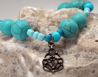 Boho Turquoise bracelet for women, Beaded Bracelet, Layering Bracelet, Friendship Bracelet, Bohemian Bracelet, Charm Bracelet Boho