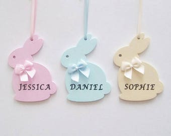 Easter bunny etsy uk personalised easter bunny rabbit gift easter bunny decoration easter present new baby gift negle Gallery